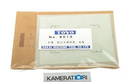 """Toyo No. 8015 4x5"""" 9x12cm Focusing Screen with Grid Acid-etched - in EU!"""