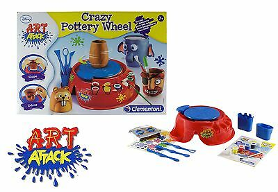 Art Attack Pottery Wheel Creative Toys Kids Gift Set Play Kit Craft Activity Fun