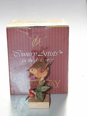 Country Artists, Wren On Wild Cherry , Boxed.