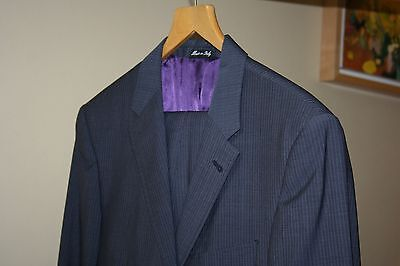 Paul Smith blue/grey wool Jacket & Trousers Suit The Westbourne 38R (trous W34)