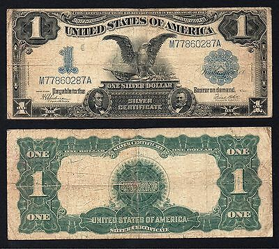 1 Dollar Silver Certificate BLACK EAGLE 1899
