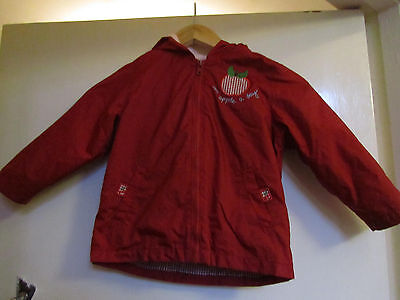 Girls M&S Red Waterproof Hooded Jacket / Coat with Removable Lining 2 - 3 years