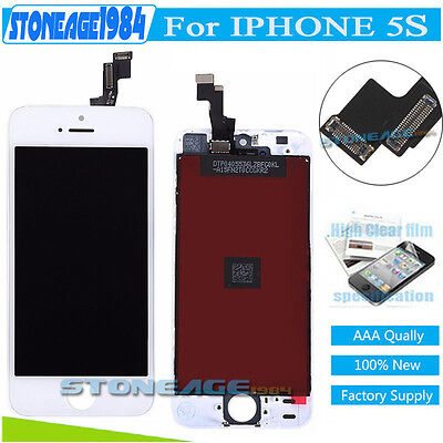 For iPhone 5S White LCD Display Touch Screen Digitizer Assembly Replacement UK