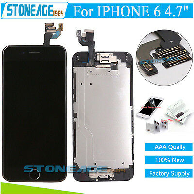 """iphone 6 4.7"""" Black LCD Touch Screen Digitizer Replacement +Home Button +Camera"""