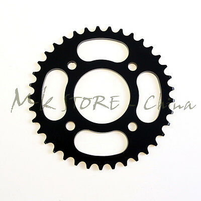 Black 420 37Tooth Rear Chain Sprocket 58mm For Motorcycle ATV Quad Pit Dirt Bike