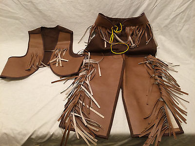 Vintage Childs Cowboy Outfit Vest and Pants
