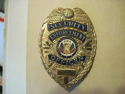 First Class Security Enforcement Officer Gold Shield Badge