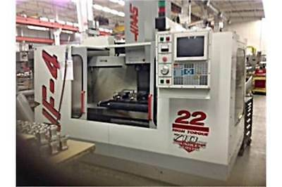 Haas VF4 CNC Vertical Machining Center Mill Milling Machine - FREE LOADING
