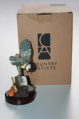 Country Artists, Great Tit On Trowel ,Boxed.