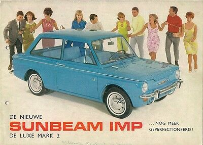 Sunbeam Imp Mk 2 De Luxe Saloon 1965-66 Dutch Market Sales Brochure Hillman