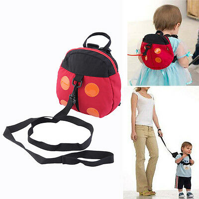 Baby Kids Cartoon Backpack Anti-lost Toddler Walking Safety Harness Strap@P