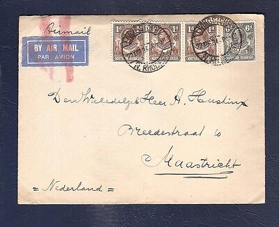 Rhodesia 1934 not by Air Mail mark cover Neth . Consulat to Holland