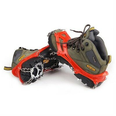 Anti Slip 12 Teeth Ice Snow Climbing Shoe Spike Grip Chain Crampon Cleat@P