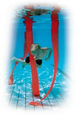 Childrens Swimming Pool Diving Plastic Weighted Strips Slalom Game Set Of 4