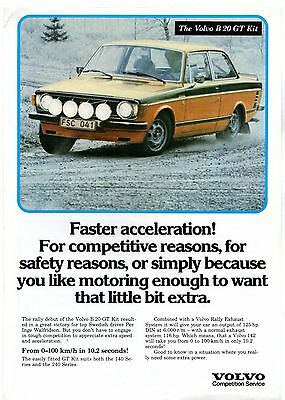 Volvo Competition Service B20 GT Kit 1977 UK Market Leaflet Sales Brochure