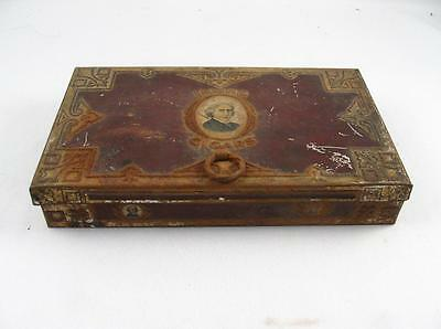 Vintage Irving Cigars Tin Metal Box By J. Hirsch & Sons Montreal