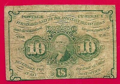 FR 1242  10 cent Fractional Currency 1st issue