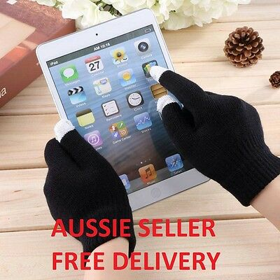 NEW Unisex Touch Screen Gloves Smartphone Ipad Iphone Stretchy Winter All Sizes