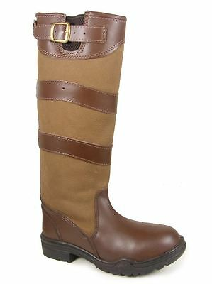 White Horse Equestrian Ladies Furlong Tall Country Outdoor Leather Boots