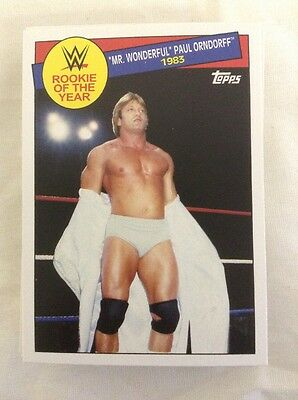 2015 Topps WWE Heritage Complete Rookie Of The Year Insert Set Cards 1-30