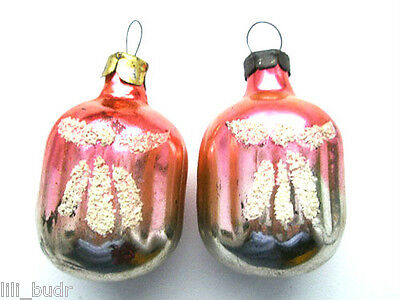 Vintage Russian Ussr Christmas Xmas Silver Glass Ornament - Abstract