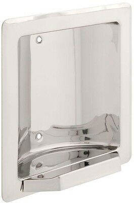Franklin Brass Century Recessed Soap or Tumbler Holder in Bright Stainless Steel