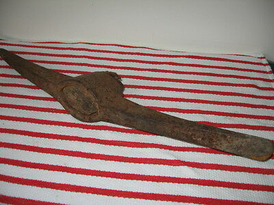 """Warwood 6+lbs Railroad Clay Pick w Point & Chisel Ends 22 1/2"""" Pickaxe Head Only"""
