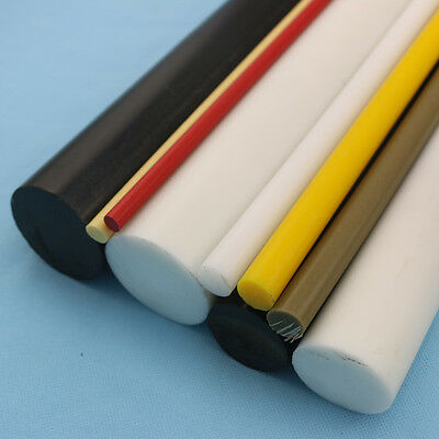 ACETAL Cut to Size ROD Delrin Round Plastic Pom Bar Shaft Black White Natural