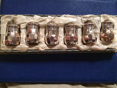 Sterling Silver Individual Salts And Peppers