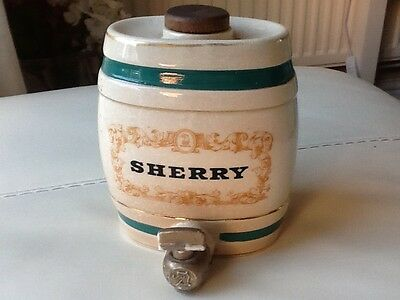 Antique Ceramic Sherry Barrel by Wade