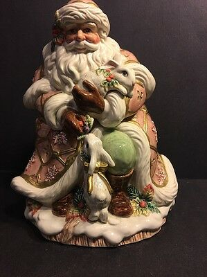 Fitz and Floyd Classics Snowy Woods Cookie Jar - Santa