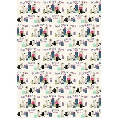 "Gift Wrap & Tags - Labrador Puppies ""Pups & Presents"" (2 Sheets+Tags)"