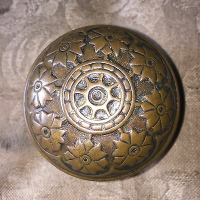 Antique Victorian Vernacular Solid Heavy Brass Door Knob. #C