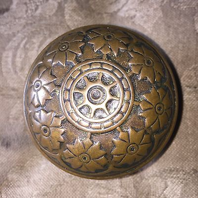 Antique Victorian Vernacular Solid Heavy Brass Door Knob. #C • CAD $44.04