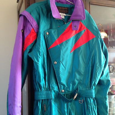 Descente Vintage Retro Ski Suit 80's One Piece Classic XL