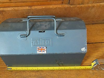 Vintage Talco tool box complete with tray. Made in England