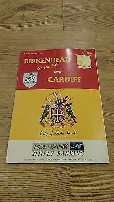 Northcote-Birkenhead Selection v Cardiff 1988 Rugby Union Programme