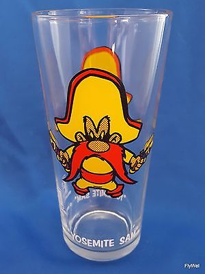 Warner Bros Looney Tunes Yosemite Sam Pepsi Glass 1973 Tumbler White