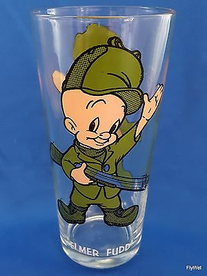 Warner Bros Looney Tunes Elmer Fudd Pepsi Glass 1973 Tumbler White