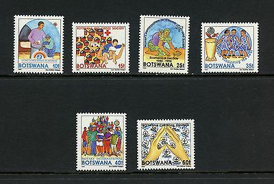 Botswana 1993  #544-9  Red Cross Rotary Lions  6v.  MNH I616