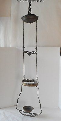 Antique Drop Down Kerosene Oil Lamp Ceiling Fixture