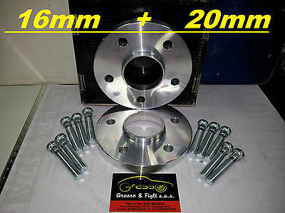 kit 4 Distanziali Ruota JAGUAR XK QQ6 X TYPE XF CC9 XJ N3 S TYPE CCX 16mm + 20mm
