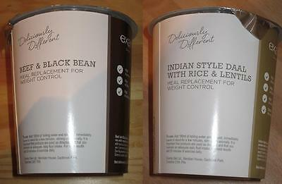10x Exante Diet VLCD Pot Meals (DD) - Beef & Black Bean and Indian Daal - MRP