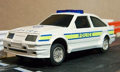 Scalextric Vintage Police Ford Sierra In Excellent Condition (C137)