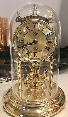 Vintage Elgin Magic Eye Large Anniversary Dome Clock With Chime