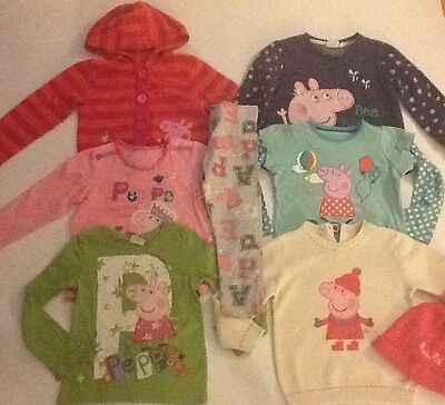 Girls Clothes Bundle Of Peppa Pig Clothes Jumpers Leggings 3-4 Next M&S