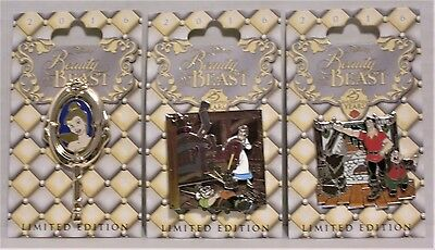 Disney Beauty And The Beast 25th Anniversary Gaston /& Le Fou 3-D Pin LE 4000 NEW