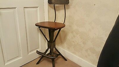 vintage industrial evertaut chair stool