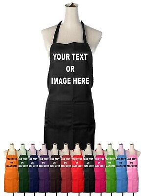 Personalised Custom Any Text Image Unisex Chefs Apron Funny Novelty Gift