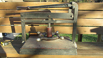 Vintage Antique Industrial Cast Iron Book Binding Press Heavy Printing 114 LBS